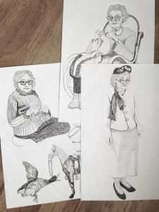 grannies sketch by Amanda
