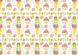 ice cream party tiled hi res